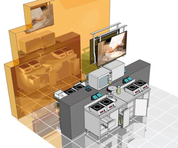 view rendering school laboratory